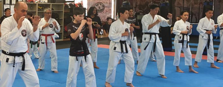 Black belt students