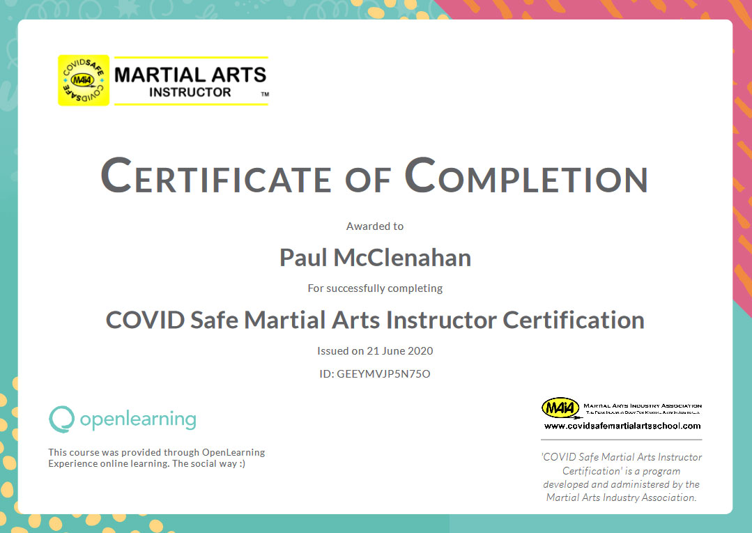 Certificate of Completion